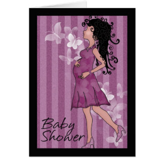 Baby shower cute pregnant Mom Greeting Card