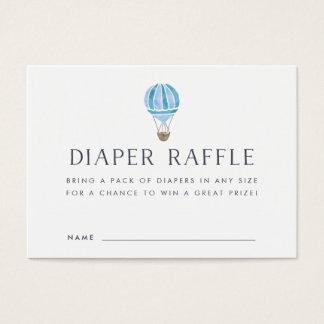 Baby Shower Diaper Raffle Cards   Blue Balloon