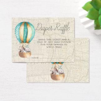 Baby Shower Diaper Raffle Tickets | Air Balloon