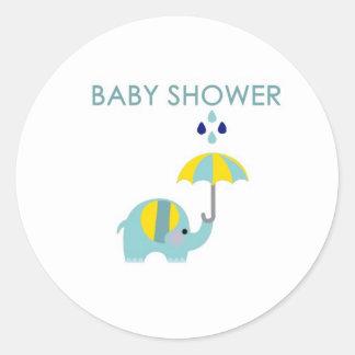Baby Shower Elephant Sticker