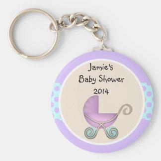 baby shower favor keychain