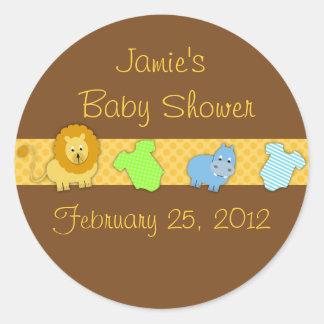 baby shower favor sticker