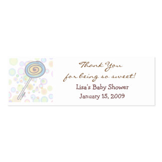 Baby Shower Favor Tag Business Cards