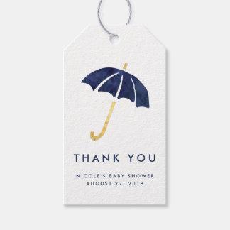 Baby Shower Favor Tags | Navy Umbrella