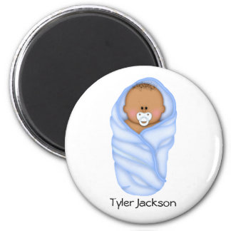 Baby Shower Favors African American Boys Magnet