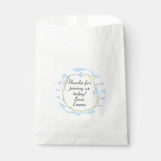Baby Shower Favour Bag, Blue, Castle in the Sky Favour Bag