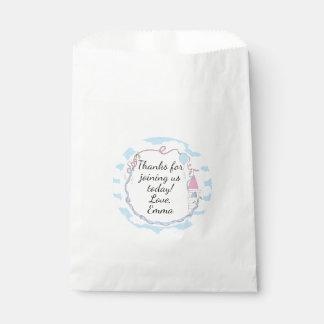 Baby Shower Favour Bag, Pink, Castle in the Sky Favour Bag