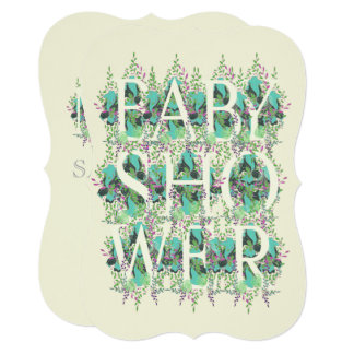 Baby Shower Floral Invitation