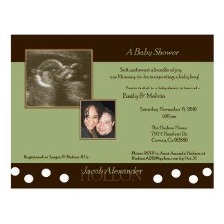 Baby Shower for Emily & Melvin (JACOB) Postcard US