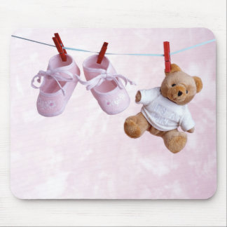 Baby shower for girl mouse pad