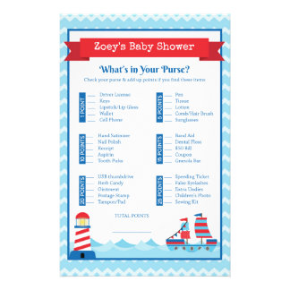 Baby Shower Game in Nautical Theme Flyer