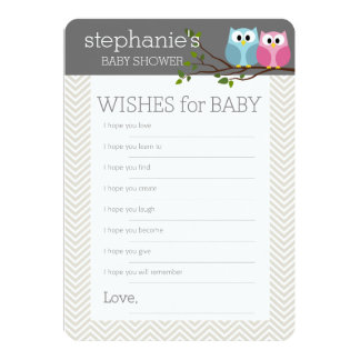 Baby Shower Game Wishes 13 Cm X 18 Cm Invitation Card