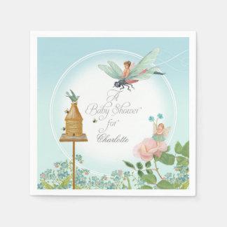 Baby Shower Garden Party Fairy Floral Bee Theme Disposable Napkin