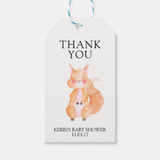 Baby Shower Gift Tag Party Favor Squirrel