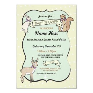 Baby Shower Girl Deer Polka Dot Invitation