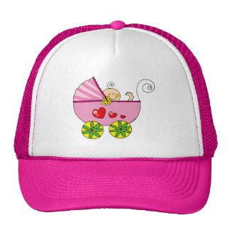 Baby shower girl trucker hat
