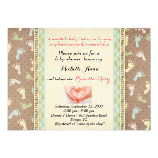 Baby Shower GIRL,simple expressive design Card