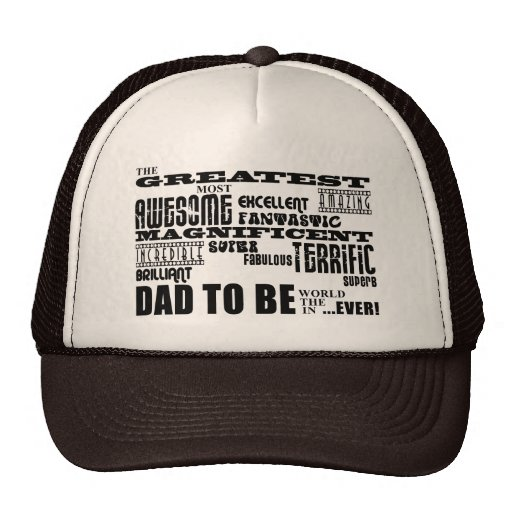 Baby Shower Greatest Best Future Fathers Dad to Be Hat