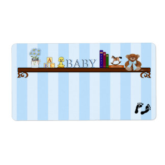 Baby Shower Guest Name Tag- Shipping Label