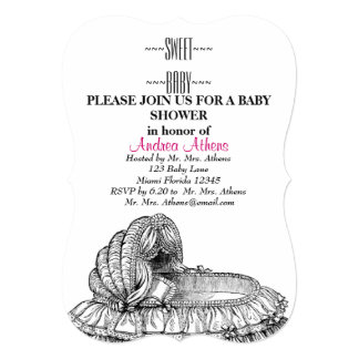 Baby Shower Guests Custom Announcement Vintage