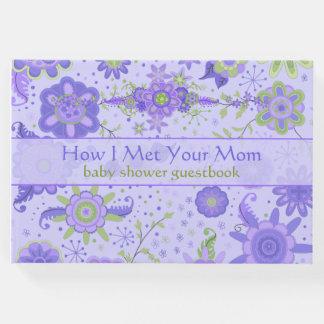 "Baby Shower ""How I Met Your Mom"" Purple Guest Book"
