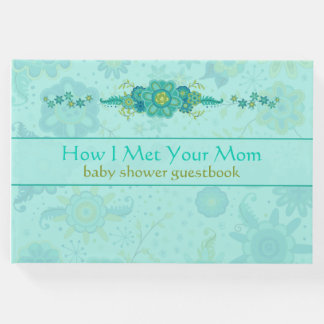 """Baby Shower """"How I Met Your Mom"""" Teal Guest Book"""