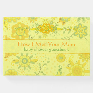 """Baby Shower """"How I Met Your Mom"""" Yellow Guest Book"""