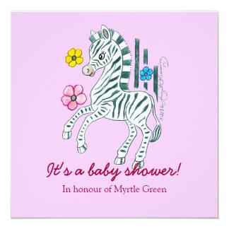 """Baby Shower Invitation 5.25"""" Square Invitation Card"""