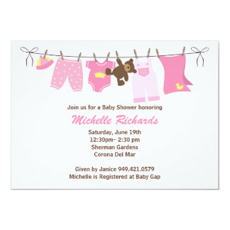 "Baby Shower Invitation 5"" X 7"" Invitation Card"