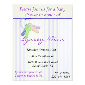 "Baby Shower Invitation 4.25"" X 5.5"" Invitation Card"