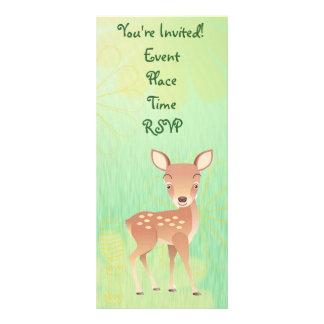 Baby Shower Invitation Baby Animals Deer Custom Rack Card