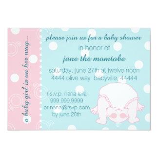 Baby Shower Invitation Baby Girl Pink Blue
