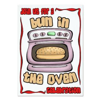 Baby Shower Invitation: Bun In The Oven 105 13 Cm X 18 Cm Invitation Card