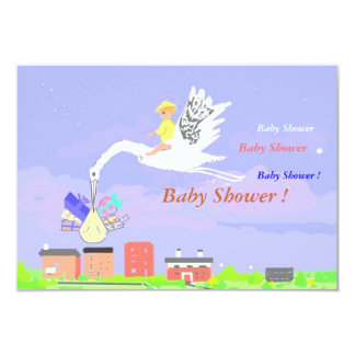 "Baby Shower Invitation Cards 3.5"" X 5"" Invitation Card"
