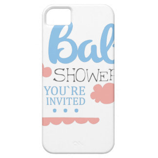 Baby Shower Invitation Design Template With Clouds Barely There iPhone 5 Case