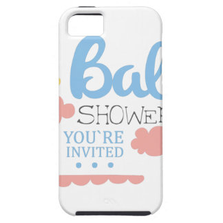 Baby Shower Invitation Design Template With Clouds Case For The iPhone 5