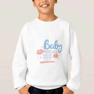 Baby Shower Invitation Design Template With Clouds Sweatshirt