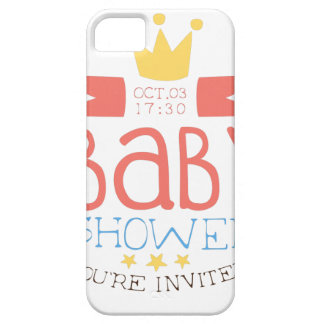 Baby Shower Invitation Design Template With Crown Case For The iPhone 5