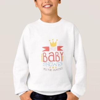 Baby Shower Invitation Design Template With Crown Sweatshirt