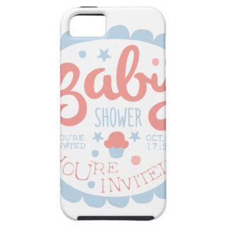 Baby Shower Invitation Design Template With Cupcak Case For The iPhone 5