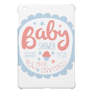 Baby Shower Invitation Design Template With Cupcak iPad Mini Case