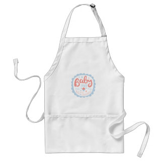 Baby Shower Invitation Design Template With Cupcak Standard Apron