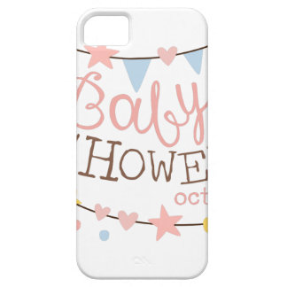 Baby Shower Invitation Design Template With Garlan iPhone 5 Case
