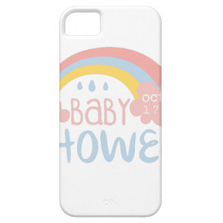 Baby Shower Invitation Design Template With Rainbo Case For The iPhone 5