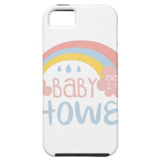 Baby Shower Invitation Design Template With Rainbo iPhone 5 Case