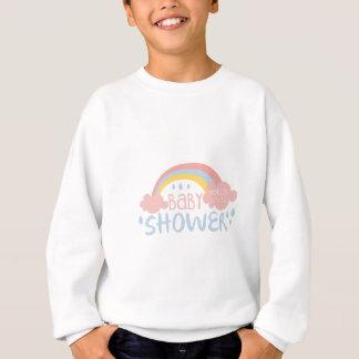 Baby Shower Invitation Design Template With Rainbo Sweatshirt