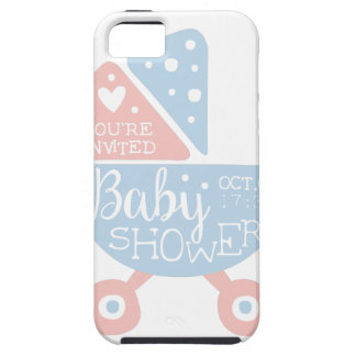 Baby Shower Invitation Design Template With Stroll iPhone 5 Covers