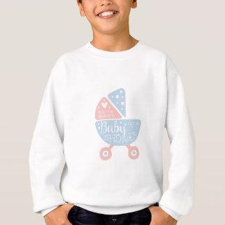 Baby Shower Invitation Design Template With Stroll Sweatshirt