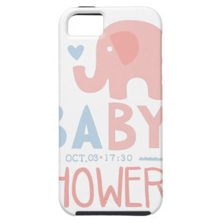Baby Shower Invitation Design Template With Toy El iPhone 5 Case