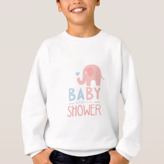 Baby Shower Invitation Design Template With Toy El Sweatshirt
